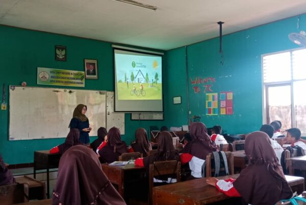 SMP N 4 Cilacap kembali di kunjungi untuk Sosialisasi Bahaya Penyalahgunaan Narkoba