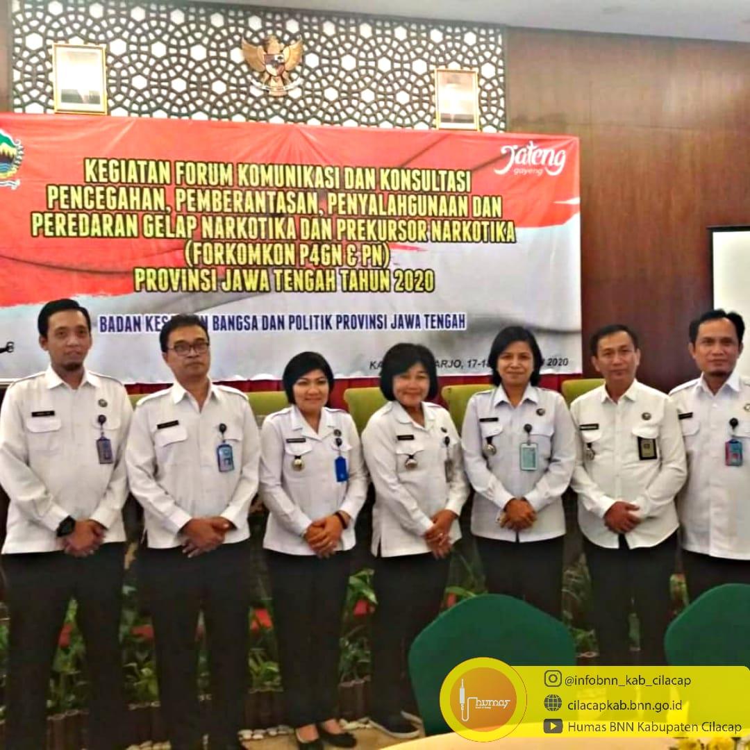 Kepala BNNK Cilacap mengikuti Forum Komunikasi dan Konsultasi P4GN