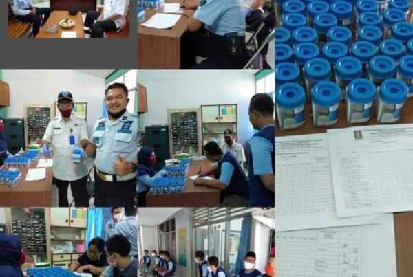Tes Urine Pegawai dan WBP Lapas Kelas II B Cilacap