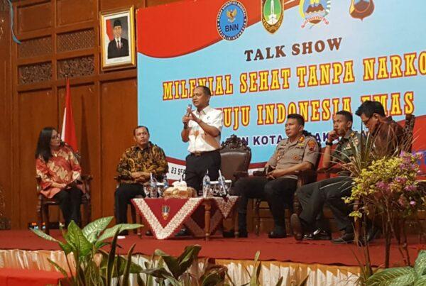 BNN Kabupaten Cilacap Menghadiri Acara Talk Show Milenial Sehat Tanpa Narkoba Menuju Indonesia Emas