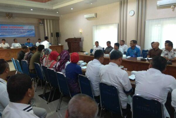Rapat Kegiatan Fasilitasi Pencegahan Pemberantasan Penyalahgunaan Dari Peredaran Gelap Narkoba (P4GN) Kabupaten Cilacap Tahun 2019