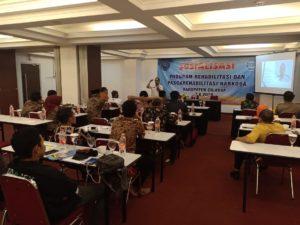 Sosialisasi Program Rehabilitasi dan Pascarehabilitasi Pecandu dan Korban Penyalahgunaan Narkotika Tahun 2019