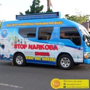 BNNK Cilacap Ngabuburit dengan KIE Keliling mengkampanyekan Stop Narkoba & Stop Covid 19