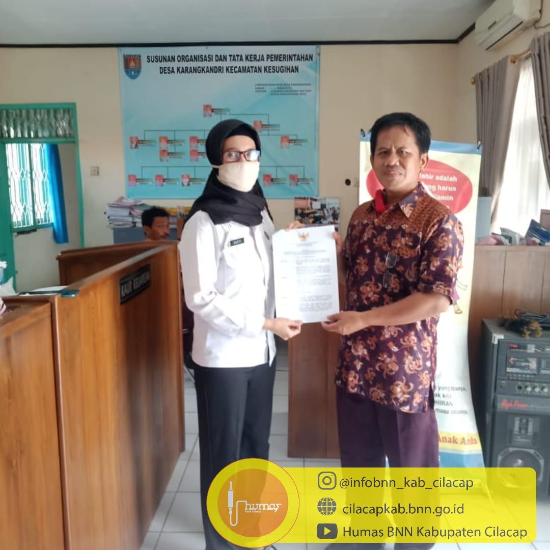 SK Agen Pemulihan Pasca Rehabilitasi Desa Kalisabuk dan Karangkandri, Terbit